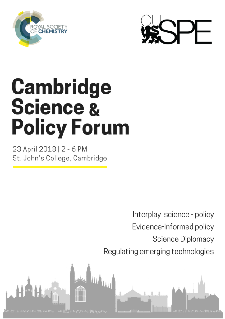 CAMBRIDGE SCIENCE AND POLICY FORUM